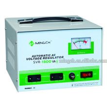 Tipo de relé SVR-1.5k monofásico de tipo personalizado Regulador / estabilizador de voltaje CA completamente automático