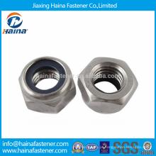 Stock DIN985 / DIN982 Aço Inoxidável Nylon Insert Nuts