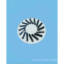 Diffuseur circulaire fixe Swirl HVAC