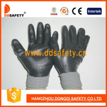 Grey Nylon with Black Nitrile Glove-Dnn442