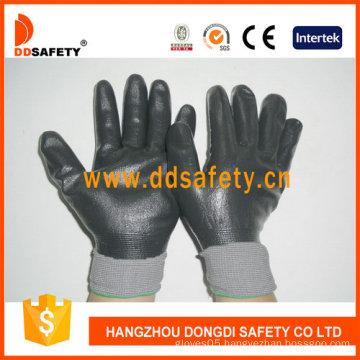 Grey Nylon with Black Nitrile Glove-Dnn442