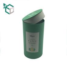 caja de empaquetado del café del papel de arte de la cartulina del tubo de papel de Kraft con la tapa