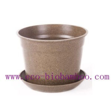 Hot-Sell Biodegradable Bamboo Fibre Flower Pot (BC-F1003)