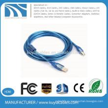 Venta caliente de alta calidad 3 metros micrófono usb cable de impresora 20awg-28awg AB 9 '(3 m)