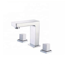 New popular bathroom hotel brass wash basin mixer tap dual handle 3 holes water faucet