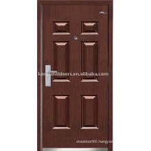 Strong Steel Security Door (JKD-234) Steel Wood Exterior Door For Armored Door Design