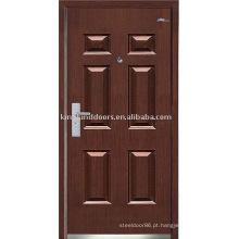 Forte segurança aço porta (JKD-234) aço madeira porta Exterior para Design de porta blindada
