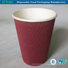 8oz Ripple Wall Paper Cup avec couvercle