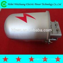Optical fiber closure-cap-type metal closure