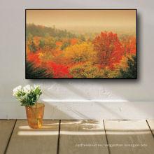 Pinturas calientes impresionistas de la lona de la hoja de arce de la venta 2013