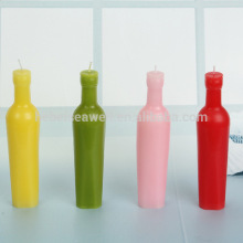 colorful Bar decoration beer bottle shape candle