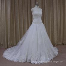 Robes de mariage de créateur de satin de silhouette 2012 de paillettes