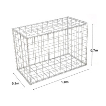 Hot Sales 1.0x0.5x0.7m Galvanzied Welded Basket Customized Rock Filled Gabion Ranch