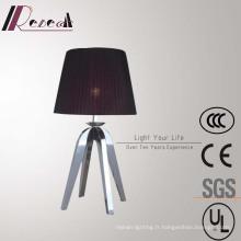 Lampe de table rouge décorative d'hôtel avec des jambes d'acier inoxydable