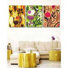 Pinturas acrílicas abstratas da ordem quente na lona para a sala de visitas