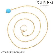 42250 -Xuping Jewelry Design moderno colar de pérolas com banhado a ouro