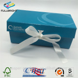 foldable box gift cardboard box with magnet and ribbon