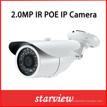 2.0MP HD IP Poe IR impermeable red CCTV seguridad cámara Bullet