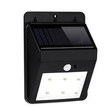 Black Color Motion Sensor Led Solar Wall Lights