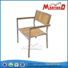 Chaise de salle à manger, chaise en métal, chaise de jardin
