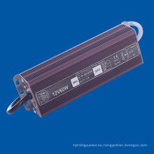 IP67 fuente de alimentación impermeable LED 60W 5A para la lámpara del LED