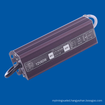 IP67 Waterproof LED Power Supply 60W 5A for LED Lamp