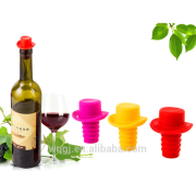 High Quality Colorful Formal Hat Shape Silicone Corkscrew Wine Stopper for Bottle Stopper