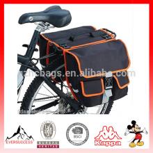 Bicicleta Ciclismo Negro trasero trasero doble bicicleta trasera bolsa bolso trasero asiento alforja
