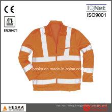 Hi Vis Safety Wear Protection Mens Reflective Jacket