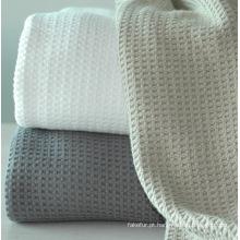 Waffle de algodão macio cobertor CB-0910