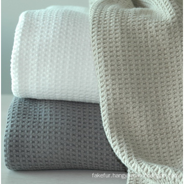 100% Soft Cotton Waffle Blanket
