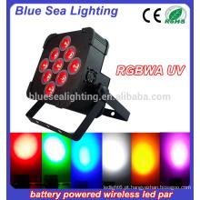 9x18w wireless led rgb bateria recarregável operar luz