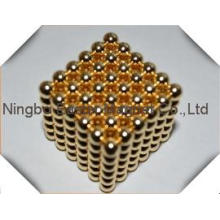 Сделано в Китае Золотой покрытие мяч магнит