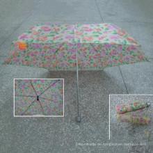4 fach Check Polyestergewebe Regenschirm (YS-4F4041A)