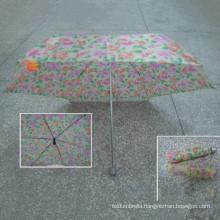 4 Fold Check Polyester Fabric Umbrella (YS-4F4041A)