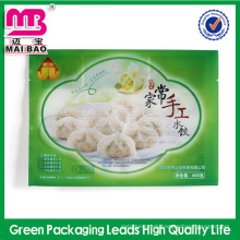 Fashionable bespoke biodegradable strong airtight high barrier packing bags for frozen food