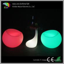 Table à cocktails en plastique à canapé à LED