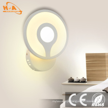2016 amplamente utilizado na lâmpada de parede do diodo emissor de luz da iluminação 8W do quarto
