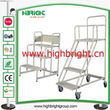 Carro de escaleras con plataforma de 3 escalones