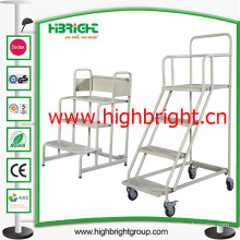 3 Step Platform Ladders Trolley