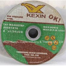 Disco de corte 105X1X16mm / rueda de corte para acero inoxidable