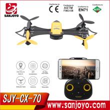 Cheerson Mais Novo Wifi RC Batdrone 4ch 6-Axis Pulso Quadrocopter Wearable Com Wi-fi Câmera FPV 0.3MP Altitude Hold Drone SJY-CX-70