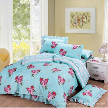 Juego de cama impresa cómodo de alta calidad 100% algodón