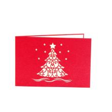 FQ marque pop up papier artisanat décoration à la main 3d carte de voeux de Noël