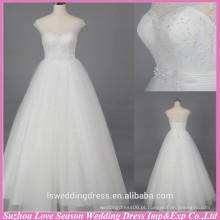 WD6026 qualidade tela pesada qualidade de exportação artesanal ver através de espartilho comprar vestidos de noiva de China lantejoulas casamento vestido