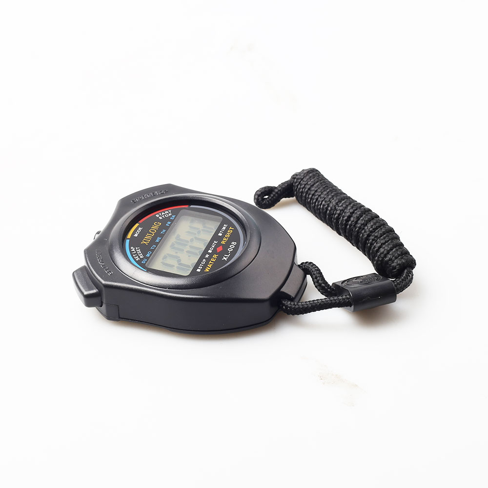 Electronic Waterproof Stopwatch with Sound and Lanyard