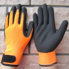 Nitrile Coated Gloves Hi-Viz Nylon Gloves Safety Work Glove