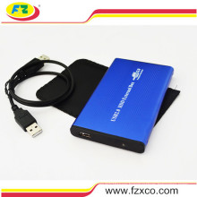 Blue USB2.0 External SATA 2.5 HDD Enclosure