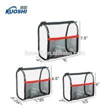 sac cosmétique clair de PVC avec le zip-lock