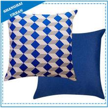 Indigo Diamond Shape Printed Polyester Throw Pillow